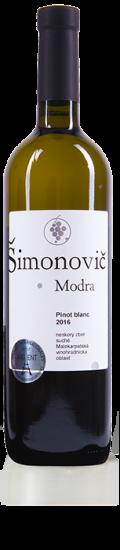Simonovic vino Pinot blanc 2016 b