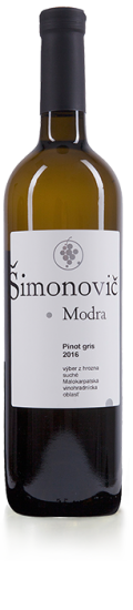 Simonovic vino Pinot gris 2016 b