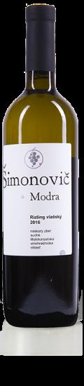 Simonovic vino Rizling vlassky 2016 b